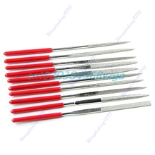 Carving Craft Tool Metal Glass Stone Needle Files Jeweler Diamond 10 pcs 140mm #H028#