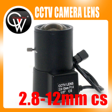 2.8-12mm cs lens Varifocal auto iris Box Camera CCTV Lens F1.4 CS lens for cctv camera(China)