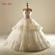 Buy TaooZor Vintage A-Line Voile Wedding Dress 2017 Luxury Pearls Beaded Pattern Cathedral Train Sweetheart Robe De Mariage for $243.59 in AliExpress store