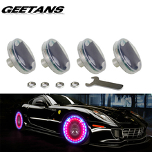 GEETANS 4pcs Led Flash Tyre Valves Lamp 13 Flash color Models Stunning Waterproof Car Tuning Gas Nozzle Cap Lamp Rim Light CE(China)