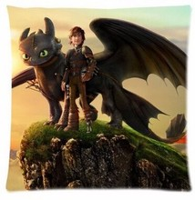 Personalized Popular Cartoon Dragon Night Fury How to Train Your Dragon Custom Throw Pillow Covers Pillowcase Nice Special Gift