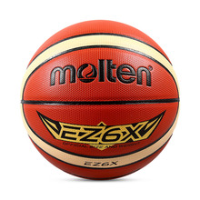 Official Original Molten EZ6X Basketball Ball New Arrival PU Leather Size 6 Outdoor Game Basketball Gift Pin & Net for Fans(China)