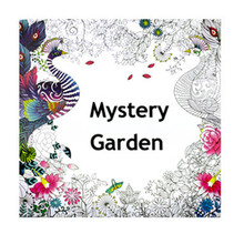 Funny Space 24 pages 25x25cm Mystery Garden Style Drawing Colouring Book For Children Adult Relieve Stress Kill Time Graffiti(China)