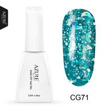 Azure 12ML 3D Glitter UV Nail Gel Polish Vernis Semi Permanent Gel Polish UV Led Lamp Nail Polish Sparkle Sequins Gel Lacquer(China)