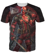 Deadpool T-Shirt image of Deadpool from the Marvel comic book series 3d print women top tees tees tops summer t shirt(China)