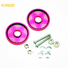 POPIGIST Mini 4wd 19mm Aluminum  Colored Rollers The Custom Parts For Tamiya Mini 4wd 19mm Aluminum Guide-Wheel D044  2Sets/lot