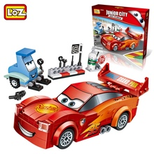 LOZ Single Sale Mini Red Technic Speed Racing Car DIY Cartoon Dolls 27Diamond Bricks Building Blocks Toys Children 1616 - LOZs Block Store store