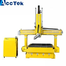 HOT Profession wood door manufacturing 4axis cnc router machine with dust collector(China)