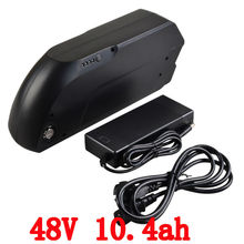 EU US  no tax 48v 10.4ah 500w use for samsung 2600mah cell lithium battery electric bike battery+ 2A charger Free  shipping