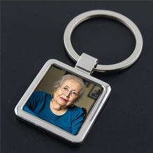 100 Personalized Custom Photo Keychain In Loving Memory Photo Picture key chain Square Memorial Ornament Key Ring Favor Gift