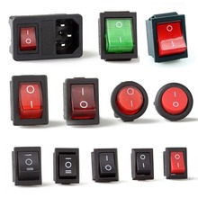 Rocker Power switch LED 3A 6A 16A 250V 31x25mm 2 3 4 6 pin terminals 1PCS FREE SHIPPING