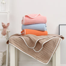 110*110cm Natural plant dyeing cotton baby blanket 6 layers high density kids bedding blanket baby bath towel sleeping blanket(China)