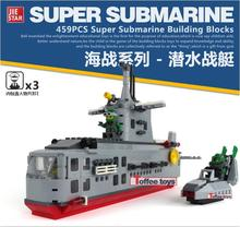 Hot selling Combats Zone NAVY Military Submarine Frogman Assemble Model Building Blocks Kids Toys