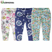 2017 Fashion Baby Children Boys Girls Pants Cotton Casual Kids Leggings Cartoon Baby Boy Bottoms Pants one pieces For 0-4Y