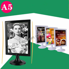 10pcs A5 Advertisement Poster menu label display photo frame POP price holder desk tabel name card Art card display stand rack(China)