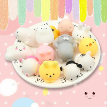 1pcs/ Tiny Funny Novelty Antistress Ball Cute Mini Animal Soft Toy Collection Stress Reliever Gift Decor for Children Girl.