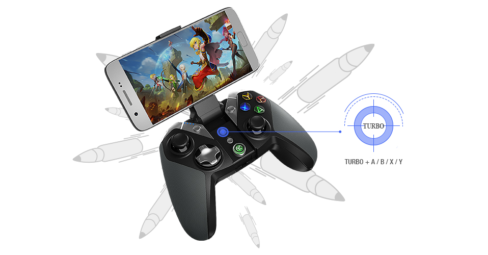 GameSir G4 + Gamepad Case,  Bluetooth Game Controller for Android, Samsung Gear VR