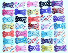 20pcs/lot Bone Design Pet Dog Hair Clips 2.5CM Pet Hair Grooming Accessories Pet Dog alloy Clip for dogs(China)