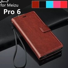 Fundas Meizu Pro 6 5.2-inch card holder cover case for MEIZU Pro 6 Pro6s Pu leather phone case wallet flip cover Quality Holster(China)