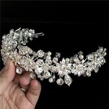 New Arrival Fashion princess diadem clear crystal crown Nice rhinestone bridal tiara best gift for bride hair accessories