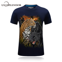 2018 New Design Cool Summer Men T shirt Leopard Eagle Wolf 3D Printed Hip Hop Tee Cotton Male Tshirt Casual Plus Size Tops YN598(China)