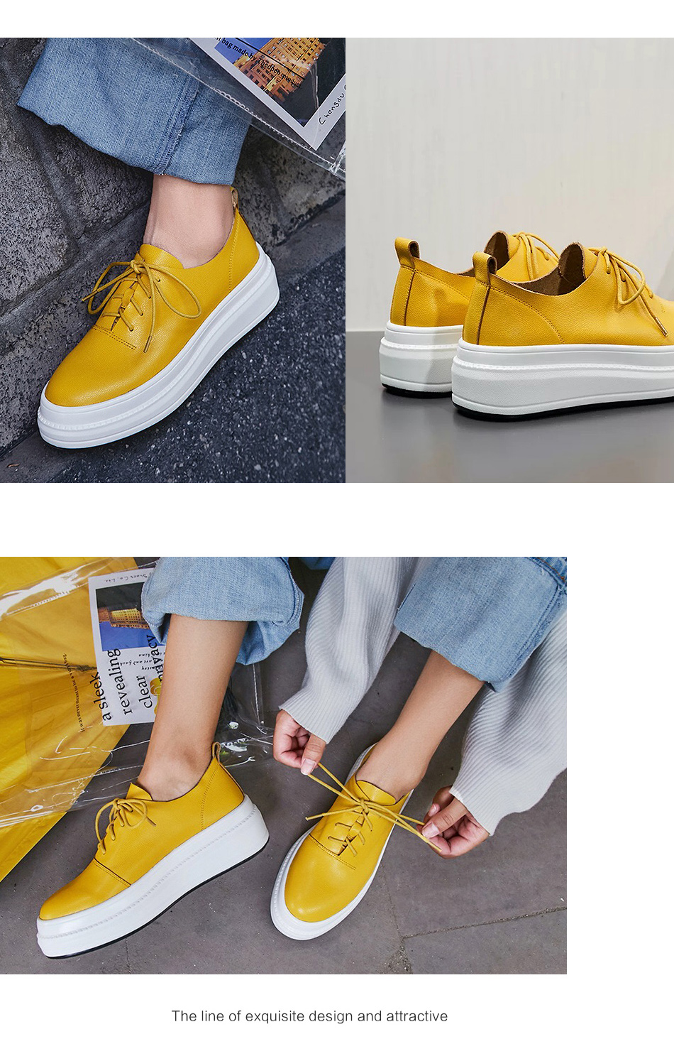 Donna-in Women Flats Shoes Platform Sneakers Shoes Genuine Leather Spring Fashion Sneakers Creepers Lace-up Comfortable Shoes (8)