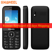 Original Haweel X1 Russian Keyboard Mobile Phone 2.4 inch 1500mAh Battery Dual SIM Super Big Speaker Elders Phone FM TF Torch BT(China)