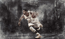 "Kyrie Irving Basketball Star Watercolor inkjet Fabric poster 40"" x 24""  21""X13""--14"