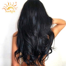 Sunlight Brazilian Body Wave Hair 100% Human Hair Weave Bundles 100g/pc Non Remy Hair Extensions Natural Color Can Be Colored(China)