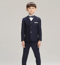 Boys suits for weddings Kids Prom Suits Black Wedding Suits for Boys tuexdo Big Children Clothing Set Boy Formal Classic Costume