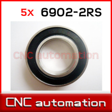 5pcs hub shaft 440 stainless steel hybrid ceramic ball bearings 6902 S6902 2RS 15*28*7mm Si3N4 bike part