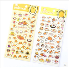 Cute Sanrio Gudetama Lazy Egg Stickers Diary Sticker Scrapbook Decoration PVC Stationery DIY Stickers School Office Supply(China)
