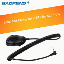 Rainproof Shoulder Remote Speaker Mic Microphone PTT 1pin For Motorola Walkie Talkie Two Way Radio with free shipping