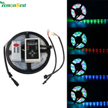 5M 6803 IC SMD 5050 Digital 12V RGB LED Strip 150 LED IP68 Tube Waterproof Dream Magic Color LED Strip Light +RF6803 Controller