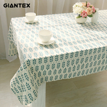 GIANTEX Korean Flower Pattern Decorative Table Cloth Cotton Linen Tablecloth Dining Table Cover For Kitchen Home Decor U1010(China)