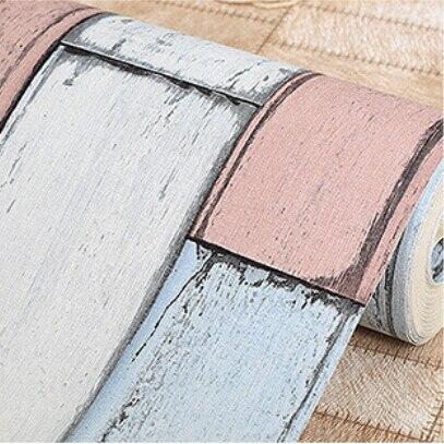beibehang wallpaper PVC Wall paper wood  stone design Wallcovering stripe pattern Papel De Parede vintage style papier peint<br>
