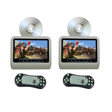 Car DVD Player Headrest Monitor 9 Inch(16:9) Digital LCD Monitor With USB SD Port Game (One Pair With DVD Player) - Gray Color