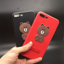 For Samsung Galaxy S4 S5 S6 S7 Edge S8 Plus Note 8 3 4 5 A3 A5 A7 E5 E7 C5 C7 Soft Case Cover 3D Unicorn Brown Bear Kumamon Dog(China)