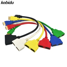 kebidu HDMI Male To Female 2 HDMI Cable Split Double Signal Adapter Converter Cable 1 In 2 Out Splitter for Video TV HDTV(China)