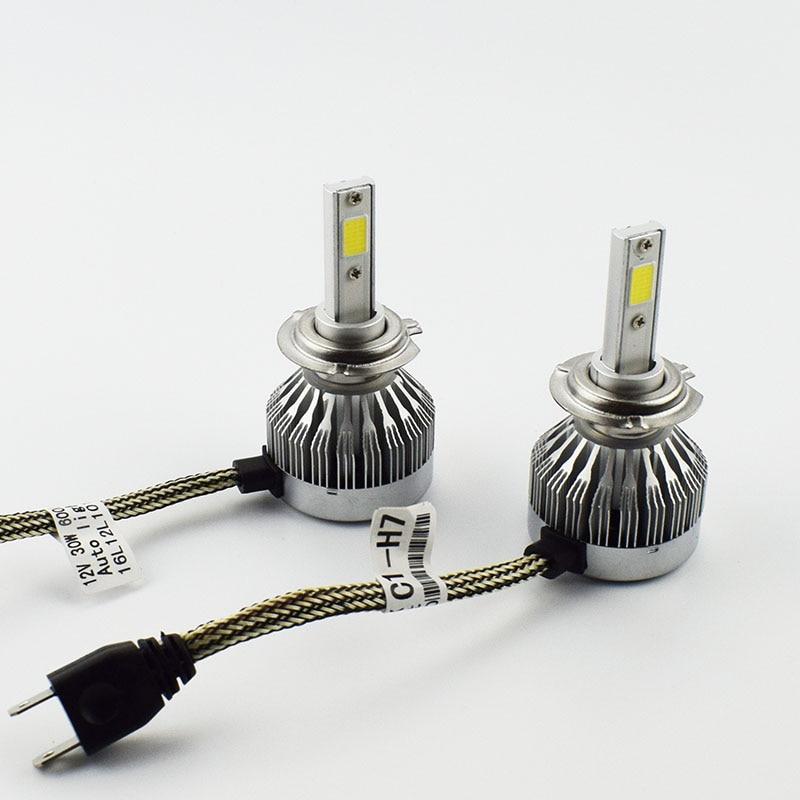 60W 6000LM H1 H4 H7//11 LED Light Headlight Vehicle Car Hi//Lo Beam Bulb Kit 6000k
