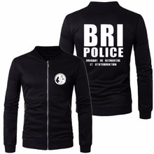 2017 men black sweatshirt brand cotton BRI hoodies France French Special Elite Police Forces Unit GIGN Raid BRI jackets(China)
