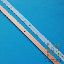 6pcs 720mm*17mm 9leds TV Panel Backlight Lamps LED Strips w/ Optical Lens Fliter for 39''/40'' TV LCD Montor New