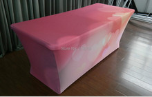 8ft Spandex Table Clothes, Spandex Table Cover, Polyester Table Throw, Event Table Cover (free shipping)