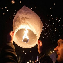 Chinese Sky Lantern Paper Lantern, SKY Balloon Kongming Wishing Lanterns For Wedding Birthday Party Celebration