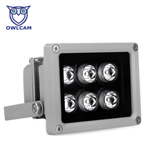 80M Auxiliary Infrared Light with 6 LED Night Vision 60/90 Degree Illuminator Lamp for CCTV IP Camera