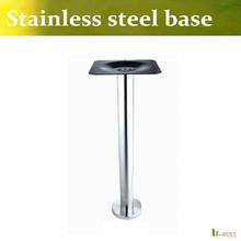 Free shipping  U-BEST high quality Stainless steel cafe bar table base,dining table leg square base chassis