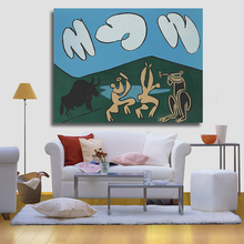 HDARTISAN Bacchanale au Taureau noir by Pablo Picasso Oil Painting Abstract Modern Wall Painting on Canvas Art Prints for Living