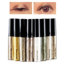 Brand new 8 Colors Glitter Eyeliner Liquid Waterproof Long Lasting Shiny Eye Liner Makeup Natural Shining Women Eye Cosmetic(China)
