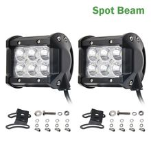 CO LIGHT 12 Volt Led Light Bar 18W 4inch 4'' Spot Flood Beam For 4x4 Offroad Jeep UAZ Boat Tractor Truck 4x4 SUV ATV Car Styling