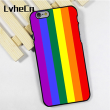 LvheCn phone case cover for iPhone 4 4s 5 5s 5c SE 6 6s 7 8 plus X ipod touch 4 5 6 Gay Lesbian Pride Flag LGBT Pattern Design